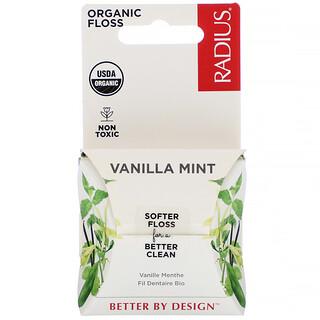 RADIUS, Organic Floss, Vanilla Mint, 55 yds (50 m)