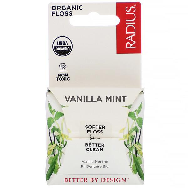 Organic Floss, Vanilla Mint, 55 yds (50 m)