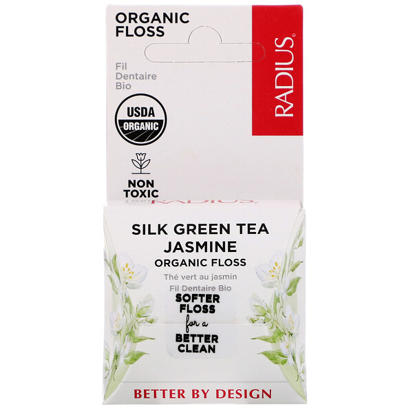 Organic Floss, Silk Green Tea Jasmine, 33 yds