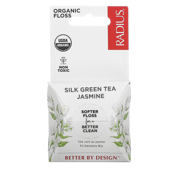 Organic Floss, Silk Green Tea Jasmine, 33 yds
