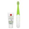 RADIUS, 有機潔齒方案,潔牙凝膠/牙刷套裝,含 1 個牙刷 + 1 支 0.8 盎司潔牙凝膠