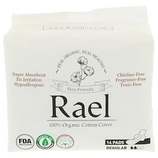 Rael, Organic Ultra Thin Pads, Regular, 14 Pads