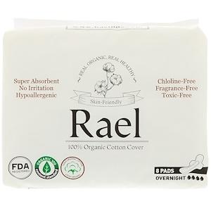 Rael, Organic Thin Pads, Overnight, 8 Pads отзывы покупателей
