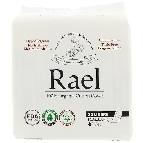 Rael, Organic Panty Liners, Regular, 20 Liners (Discontinued Item)