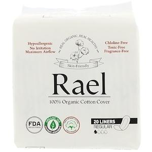 Rael, Organic Panty Liners, Regular, 20 Liners отзывы покупателей