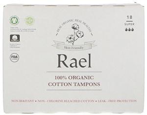 Rael, 100% Organic Cotton Tampons, Super, 18 Tampons отзывы