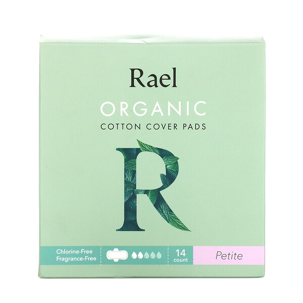 Rael, Organic Cotton Cover Pads, Petite, 14 Count (Discontinued Item)