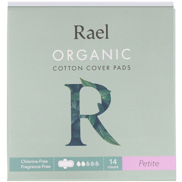 Organic Cotton Cover Pads, Petite, 14 Count