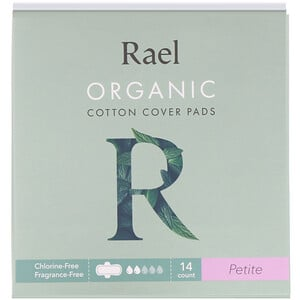 Rael, Organic Cotton Cover Pads, Petite, 14 Count