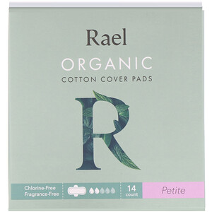 Rael, Organic Cotton Cover Pads, Petite, 14 Count отзывы покупателей