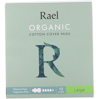 Rael, Organic Cotton Cover Pads, Large, 12 Count