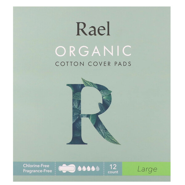 Organic Cotton Cover Pads, Large, 12 Count
