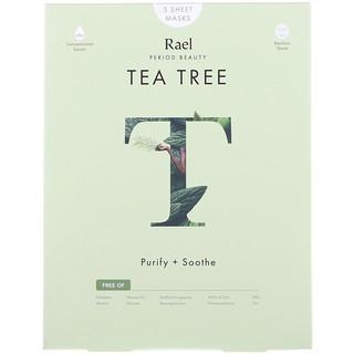 Rael, Tea Tree Sheet Masks, 5 Sheets