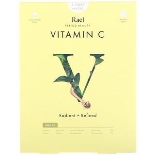 Rael, ビタミンC シートマスク、5枚