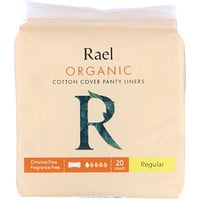 Rael, Organic Cotton Cover Panty Liners, Regular, 20 Count
