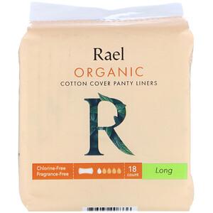 Rael, Organic Cotton Cover Panty Liners, Long, 18 Count отзывы покупателей