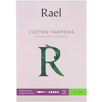 Organic Cotton Tampons With BPA-Free Applicators, Super, 16 Count - фото