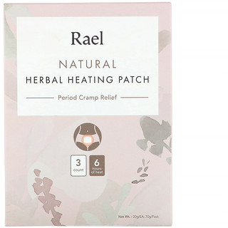 Rael, Natural Herbal Heating Patch, Period Cramp Relief, 3 Count, 20 g Each