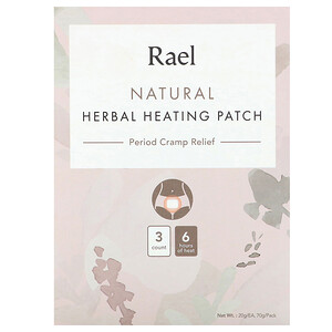 Rael, Natural Herbal Heating Patch, Period Cramp Relief, 3 Count, 20 g Each отзывы