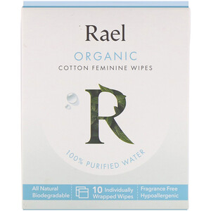 Rael, Organic Cotton Feminine Wipes, 10 Wipes отзывы