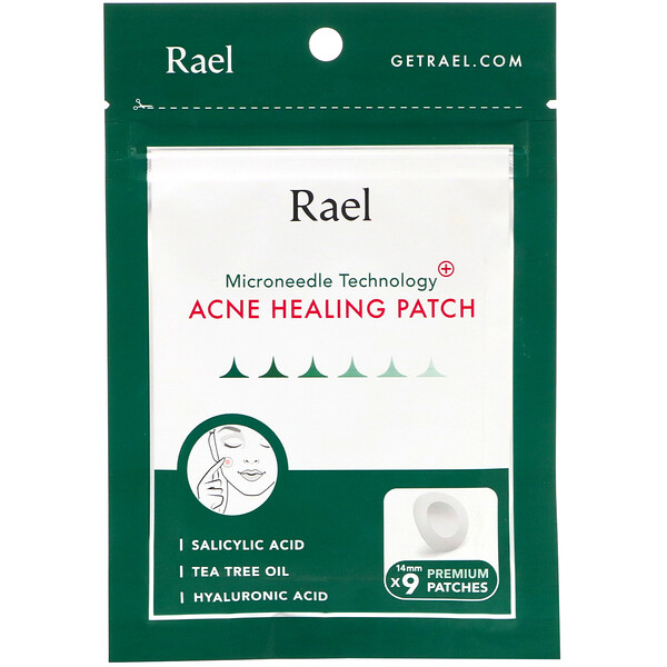 Rael, Microneedle Technology, Acne Healing Patch, 9 Patches (Discontinued Item)