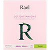 Rael, Organic Cotton Tampons with Cardboard Applicators, Super, 18 Count
