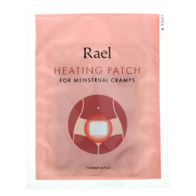 Rael Heating Patch for Menstrual Cramps, 3 Patches, 0.7 oz Each