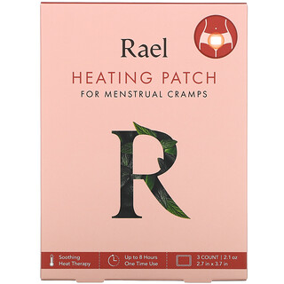Rael, لاصقة حرارية للتقلصات المصاحبة للدورة الشهرية، 3 لاصقات، 0.7 أونصة لكل منها