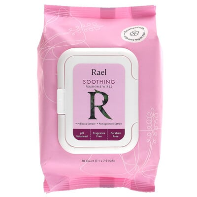 Купить Rael Soothing Feminine Wipes, Fragrance Free, 30 Count