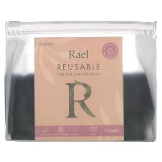 Rael, Reusable Period Underwear, Bikini, Extra Large, Black, 1 Count
