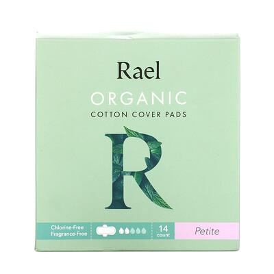 Rael Organic Cotton Cover Pads, Petite, 14 Pads