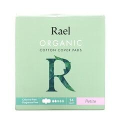 Rael, Organic Cotton Cover Pads, Petite, 14 Pads