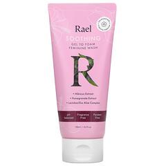 Rael, 舒緩凝膠泡沫女性私密部位洗護液,無香型,4.4 液量盎司(130 毫升)