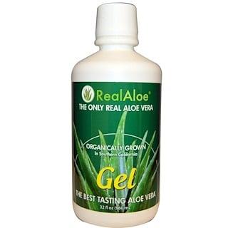 Real Aloe Inc., アロエベラジェル, 32液量オンス(960 ml)
