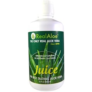 Real Aloe Inc., アロエベラジュース, 32液量オンス(960 ml)