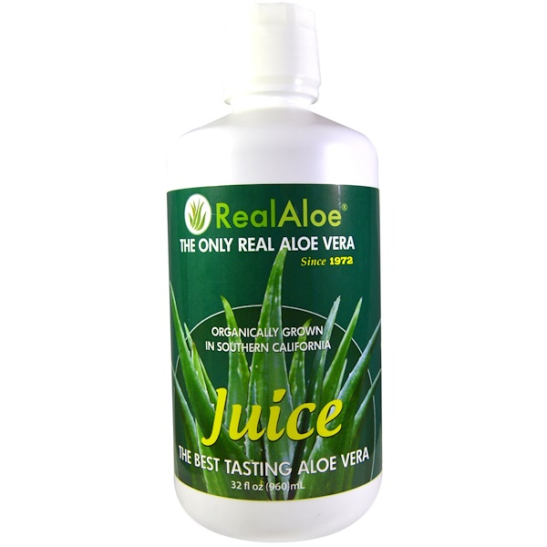 Real Aloe Inc., Jugo de Aloe Vera, 32 fl oz (960 ml)