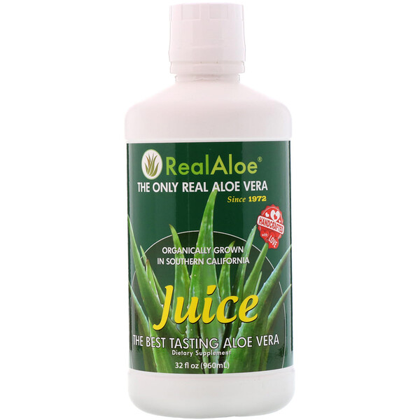 Real Aloe Inc., عصيرالألوي فيرا ، 32 أونصة سائلة (960 مل)