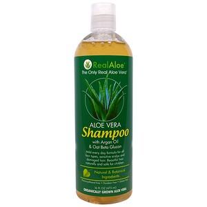 Риал Алоэ, Aloe Vera Shampoo with Argan Oil & Oat Beta Glucan, 16 fl oz (473 mL) отзывы покупателей