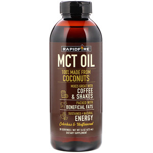 RAPIDFIRE, MCT Oil, Unflavored, 16 oz (473 ml) отзывы