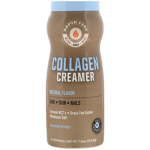 RAPIDFIRE, Collagen Creamer, Natural Flavor, 7.6 oz (214.2 g)