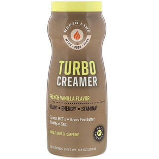 RAPIDFIRE, Turbo Creamer, French Vanilla Flavor, 8.8 oz (250 g)