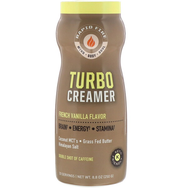 Turbo Creamer, French Vanilla Flavor, 8.8 oz (250 g)