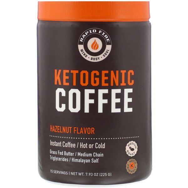 Ketogenic Coffee, Hazelnut Flavor, 7.93 oz (225 g)