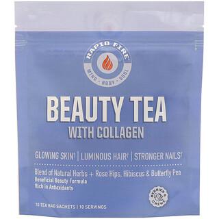 RAPIDFIRE, Beauty Tea with Collagen, Berries & Creme, 10 Tea Bag Sachets
