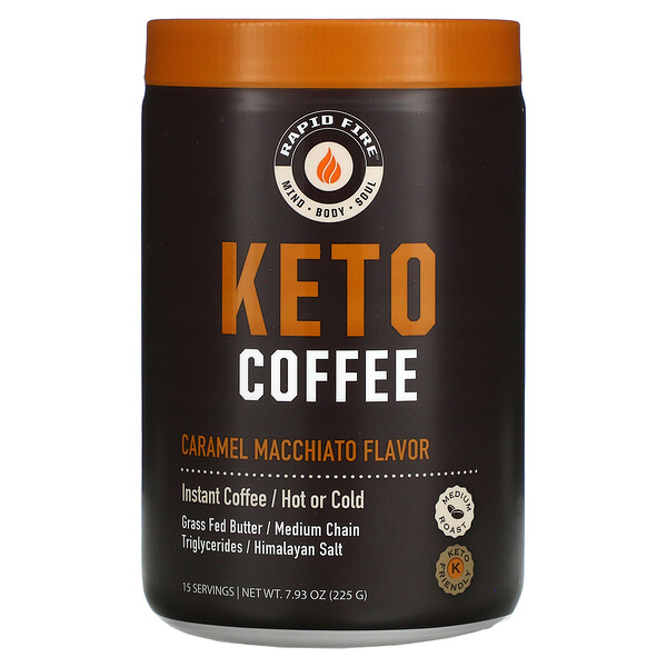 RAPIDFIRE, Keto Coffee, Caramel Macchiato, 7.93 oz (225 g)