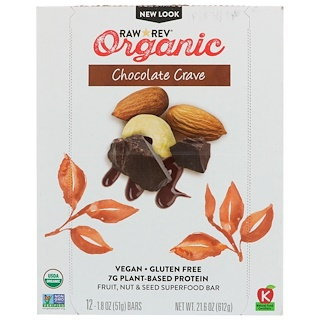 Raw Rev, Organic, Chocolate Crave, 12 Bars, 1.8 oz (51 g) Each