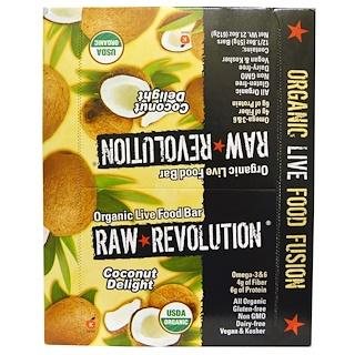 Raw Revolution, Organic Live Food Bar, Coconut Delight, 12 Bars, 1.8 oz (51 g) Each
