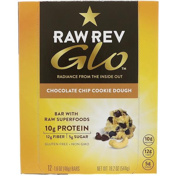 Raw Revolution, Glo,巧克力脆餅,12 條,每條 1、6 盎司(46 克)