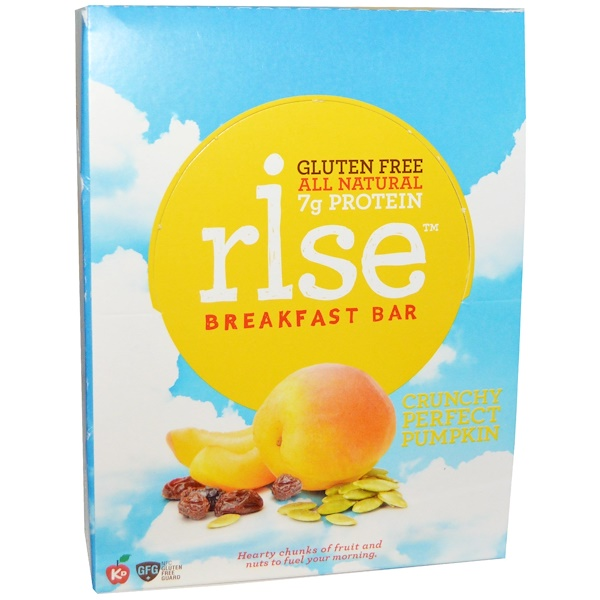 Rise Bar, Breakfast Bar, Crunchy Perfect Pumpkin, 12 Bars, 1.4 oz (40 g) Each (Discontinued Item)