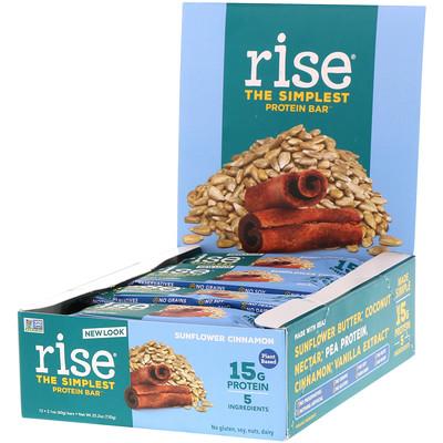 Купить Rise Bar THE SIMPLEST PROTEIN BAR, Sunflower Cinnamon, 12 Bars, 2.1 oz (60 g) Each